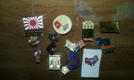 Assorted pins in Cherry Point, North Carolina