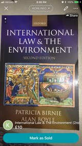 International Law and the Environment (2nd edition) in Lakenheath, UK
