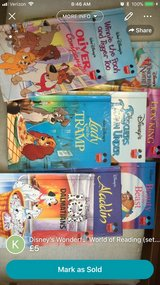 Disney's Wonderful World of Reading (set of 9 books) in Lakenheath, UK