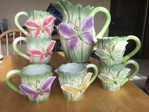 Butterfly pitcher and 6 mugs in Glendale Heights, Illinois