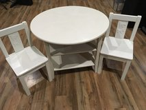 White toddler table and chairs in Bolingbrook, Illinois