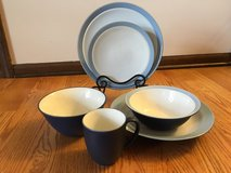 Noritake Kona Indigo China Set (11 settings plus more!) in Glendale Heights, Illinois