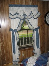 Country Blue Calico Curtains in Fort Polk, Louisiana