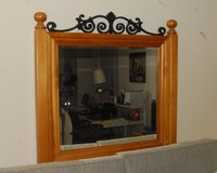 Wood & Iron Framed Plate Glass Beveled Mirror in Fort Meade, Maryland