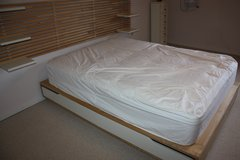 Platform Bed with Birch Wood with a natural finish in Ramstein, Germany