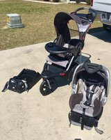 Jogging stroller, car seat and extra base in Valdosta, Georgia