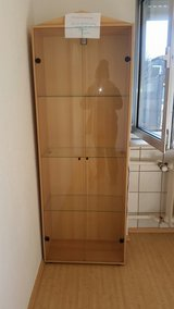 Glass cabinet with 220v Light in Ramstein, Germany
