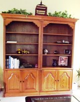 Twin Bookcases with Storage Solid Medium Oak 4 Adjustable Shelves 3 pc in Algonquin, Illinois