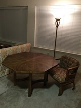 Octagonal Breakfast or Game Table w/4 Comfy Chairs & Table Pads in Pensacola, Florida