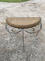 Wicker half table in Spring, Texas