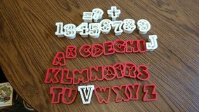 Numbers and letters cookie cutters in Algonquin, Illinois