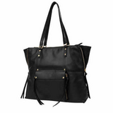 "Kooba Genuine Leather Tote, Black, 11"" Strap Hand Bag Zipper Purse in Plainfield, Illinois"
