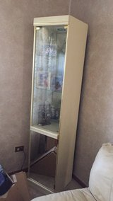 2 lighted end units cream colored mirror and glass in Bolingbrook, Illinois