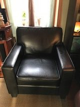 Black Faux Leather Cigar Chair in Quantico, Virginia