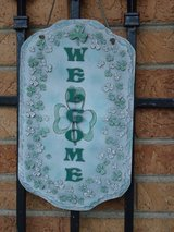 shamrock welcome plaque in Chicago, Illinois
