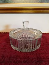 Pretty Crystal Glass Candy Dish or Trinket Box in Clarksville, Tennessee