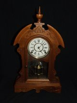 Waterbury Rutland Mantle Parlor Shelf Clock Works ~ All Original ~ Rare Ca. 1881 in Batavia, Illinois