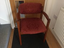 Red Cushioned Wooden Chair in Lakenheath, UK