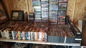 100s of DVD and VHS in Yucca Valley, California