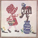 "Naturally Needlepoint Kit BIG BONNET GIRL #6514 10"" X 10"" Pillow or Picture 1975 in Batavia, Illinois"