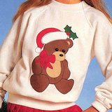 Bucilla 'Put-Ons' Fabric Appliqué Kit XMAS BEAR NIP in Chicago, Illinois