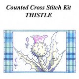 VTG THISTLE CELTIC CROSS STITCH KIT, 5x3, Camus Internat in Batavia, Illinois