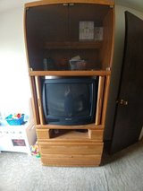 Solid oak(old) entertainment center in Plainfield, Illinois