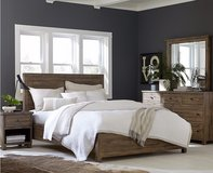 NEW! UPSCALE/LUX SOLID HEAVY WOOD QUEEN BED SET BY M. INTERNATIONAL in Vista, California