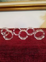 6 PRETTY GLASS NAPKIN RINGS in Clarksville, Tennessee