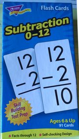 Subtraction Flash Cards facts 0-12, ages 6 and up in Naperville, Illinois