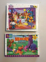 Winnie the Pooh Memory game and Puzzle Complete Set in Fort Riley, Kansas