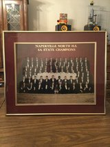Naperville North 6A state high school football framed photo 1992-1993 in Bolingbrook, Illinois