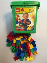 52 Piece Duplo Lego Set for ages 1 1/2 to 5   Includes Storage Bucket in Fort Riley, Kansas