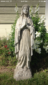 Concrete Virgin Mary in Lackland AFB, Texas
