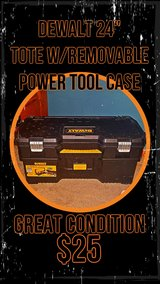 DeWalt 24 in. 2-in-1 Tote with Removable Power Tool Case in Fort Lewis, Washington