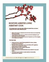 Assistant Cook- Bickford Assisted Living Oswego in Yorkville, Illinois