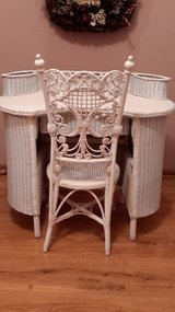 VICTORIAN WICKER DESK AND CHAIR in Oswego, Illinois
