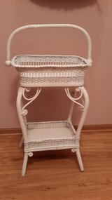 VICTORIAN WICKER SEWING BASKET STAND in Sugar Grove, Illinois