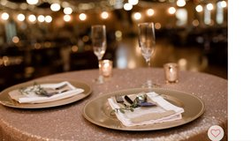Round Champagne Sequins Tablecloth in Baytown, Texas