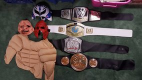 WWE WRESTLING BELTS AND MASKS in Chicago, Illinois