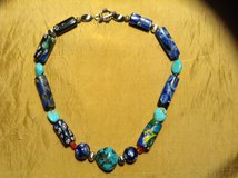 Venetian glass bead necklace sterling beads and toggle clasp in 29 Palms, California