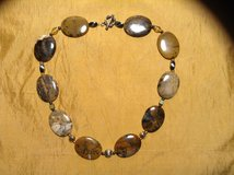 Genuine Agate necklace with Sterling beads and sterling silver toggle clasp in 29 Palms, California