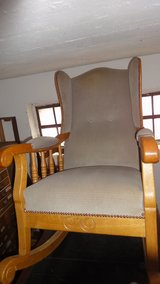 Rocking Chair, Wing Chair, solid oak, perfect condition, like new, Shop-closing up to 50% in Wiesbaden, GE