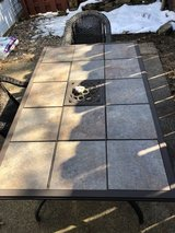 Patio Steel-Frame Tile Top Rectangular Table in Cleveland, Ohio