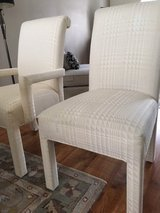 Upholstered High Back Dining Room Chairs (4) in Cleveland, Ohio