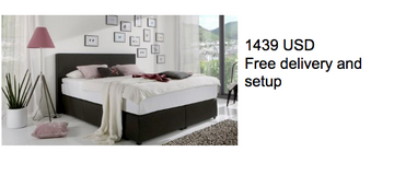 Classic Boxspring Bed, free delivery in Ramstein, Germany