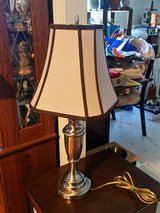 Tabletop 3 way lamp with lampshade in Fort Bragg, North Carolina