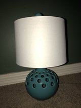 Ceramic Lamp Teal/White in Kingwood, Texas