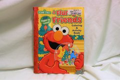 Elmo A Furry & Friends Coloring Activity Book Crayon Drawing 288 page in Kingwood, Texas