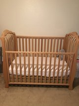 Light Wood Crib and Changing Table in Temecula, California